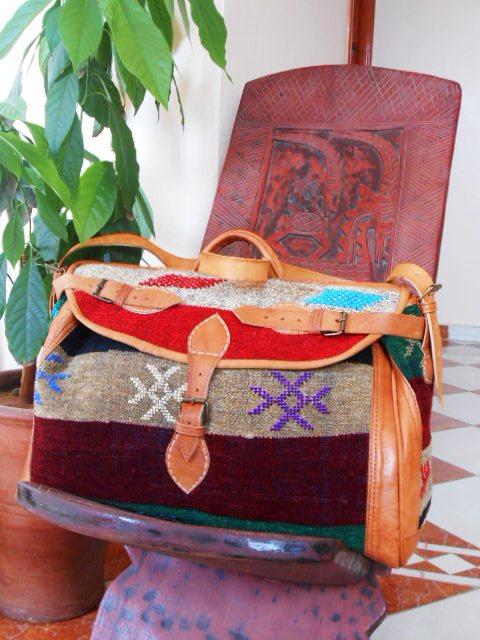 Sac de voyage marocain en cuir