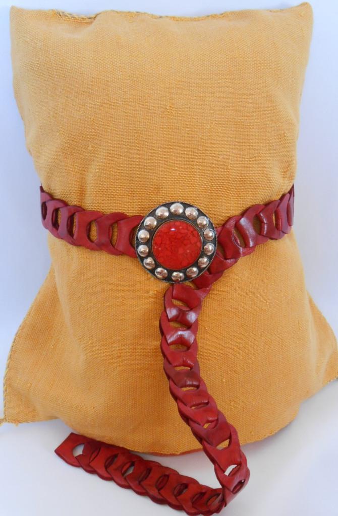 Ceinture en cuir marocaine