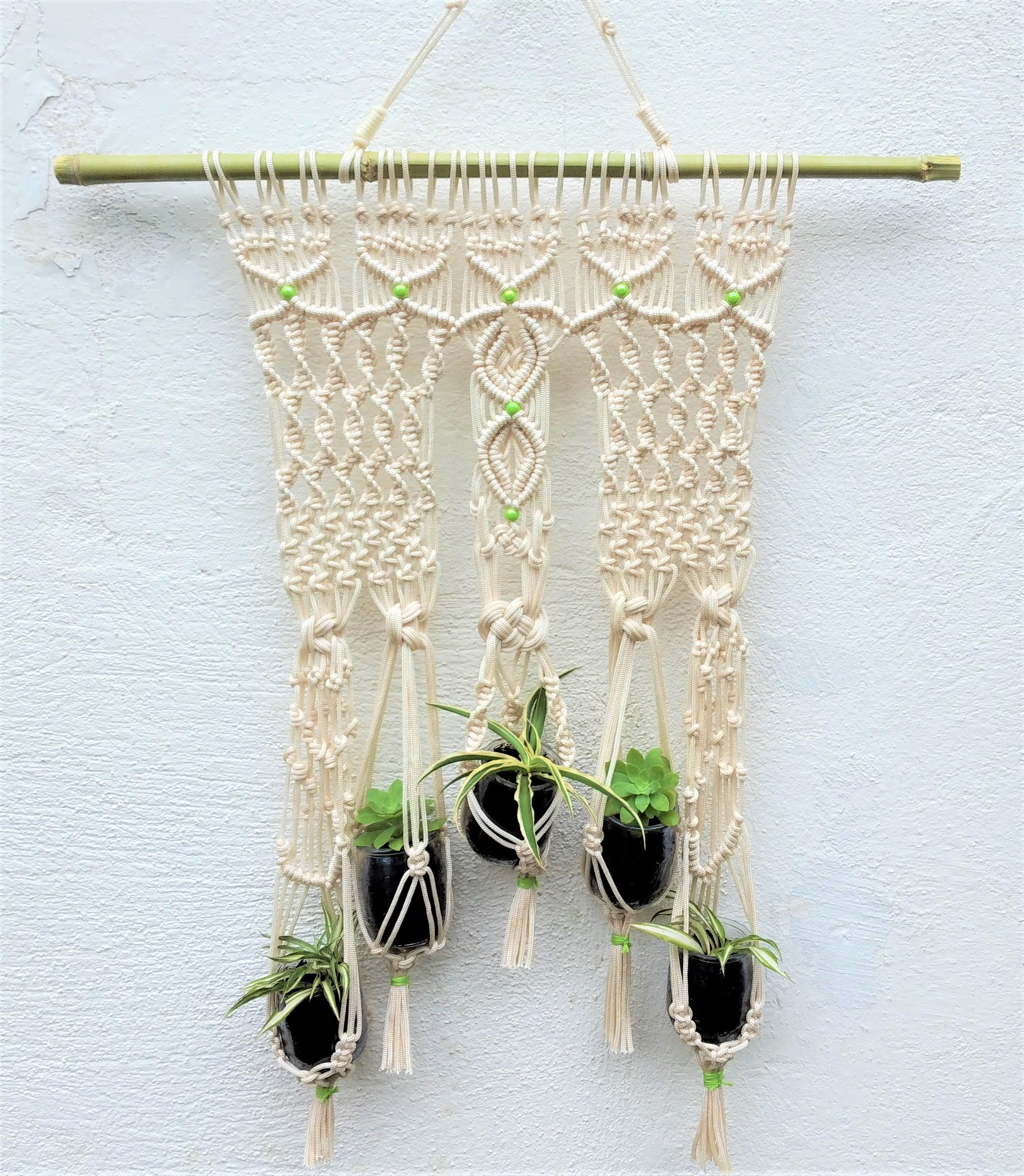 Suspension macramé pour plantes