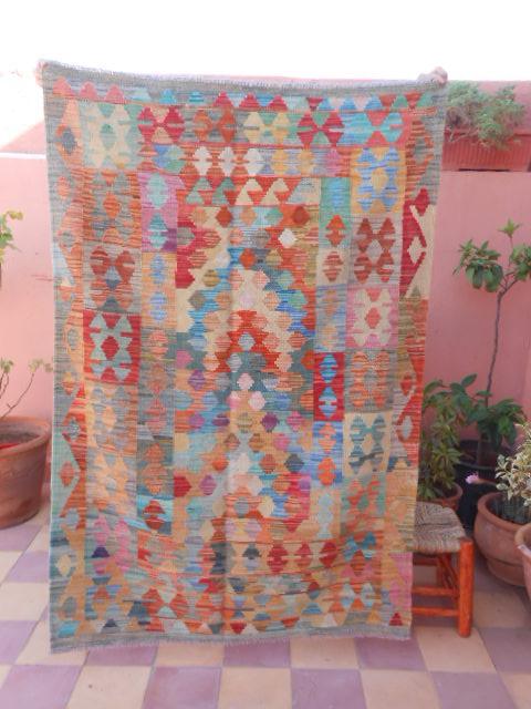 Tapis Kilim Afghan Ancien